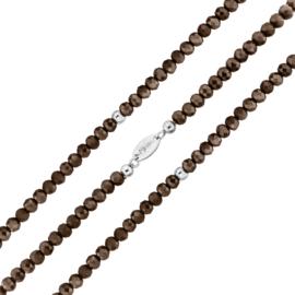 Donkerbruine Facetgeslepen Kralen Rek Armband van MY iMenso