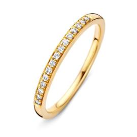 Excellent Jewelry Slanke Briljanten Ring van Geelgoud