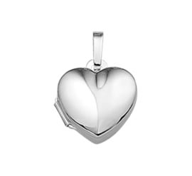 Egaal Robuust Zilveren Hartvormig Medaillon