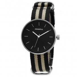 Prisma Horloge Unisex Simpel Zwart Nato P.1242.20WG
