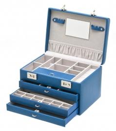 Sieradendoos in de kleur blauw / DAVIDTS