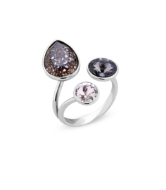 Swarovski Ring van Spark Jewelry - Black Patina