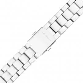 MY iMenso Quartz Gepolijste Horlogeband / Zilverkleurig