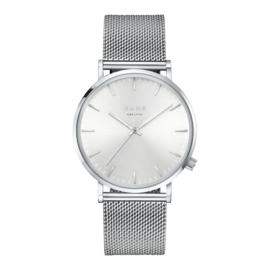 KANE Horloge met Zilverkleurige Milanese Horlogeband