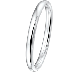 Robuuste Dames Bangle armband van Zilver