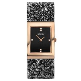Sekonda Roségoudkleurig SEKSY Dames Horloge met Rechthoekige Kast