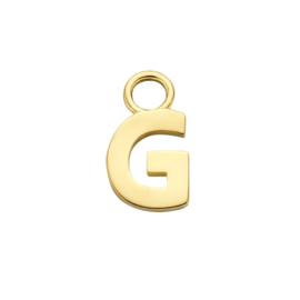 14K Geelgouden Oorringhanger met Letter G