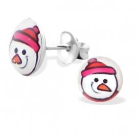 Sneeuwpopkop Kinderoorbellen | 925 Zilver