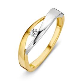 Excellent Jewelry Bicolor Zirkonia Ring voor Dames