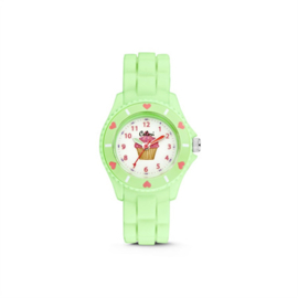 Mintgroen KIDZ Horloge met Cupcake van Colori Junior