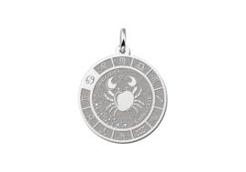 Zilveren Kreeft Sterrenbeeld Bedel met Naam ZHS088 | Names4ever