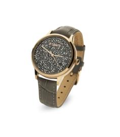 Spark Horloge met Zwarte Swarovski Kristallen