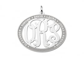 Names4ever Ovale Hanger Monogram met Namen ZMH019