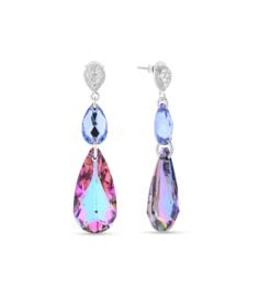 Spark Oorhangers met Lichtblauwe Swarovski Kristallen