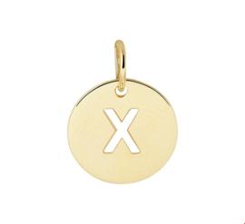 Opengewerkte Letter X Hanger van Geelgoud
