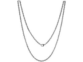 LOCKits Zilverkleurig Edelstalen Twist Collier 80cm