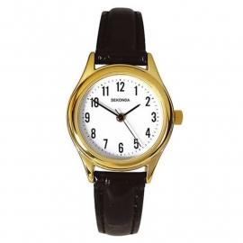 Sekonda Dames Horloge / Zwart leren band SEK.4493
