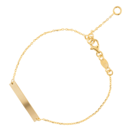 Super Stylish Goudkleurige Bar Armband met Karabijnsluiting