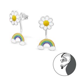 Bloem en Regenboog Ear Jackets voor Kinderen