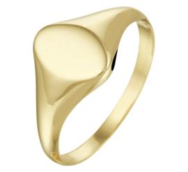 Ovale Gouden Dames Zegelring | Kies je eigen letter