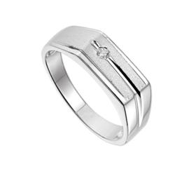 Ring met Gepolijste Randen van Zilver + Maken naar maat 21,5