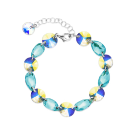Zilveren Bovino Lichtblauwe Swarovski Armband van Spark