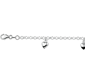 Kinderarmband van Zilver met Harten