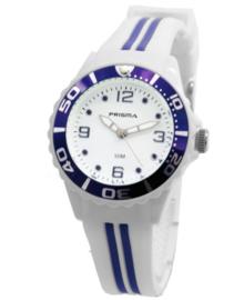 Wit Wanda Kids Horloge met Paarse Elementen