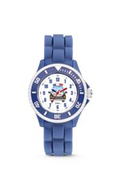 Blauw KIDZ Horloge met Politieauto van Colori Junior