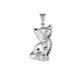 Zittende Kat Hanger van Zilver 10.16706