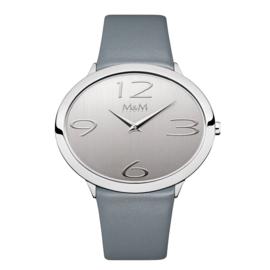 Ovaal M&M Horloge voor Dames met Blauwe Horlogeband