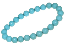 Turquoise Halfedelsteen Kralen Armband > Names4ever