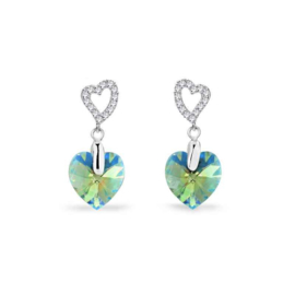Spark Amore Zilveren Oorhangers met Erenite Shimmer Glaskristal