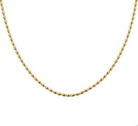 Zilveren Bolletjes Collier met Goudkleurig Laagje