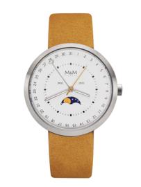 M&M Horloge met Oker Horlogeband voor Dames