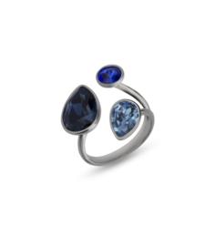 Swarovski Ring van Spark Jewelry met Blauwe Swarovski Kristallen