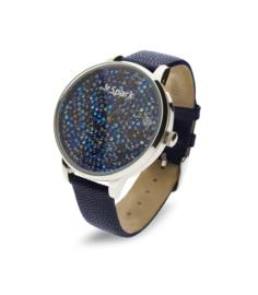 Spark Crono Horloge met Blauw Lederen Horlogeband