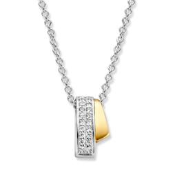 Excellent Jewelry Zilveren met Gouden Zirkonia Hanger