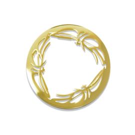 LOCKits goudkleurige Frame Munt van Edelstaal 25mm