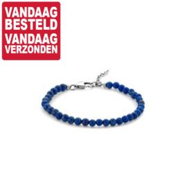 Lapis Lazuli Dames Armband 4,5 mm x 16-19 cm