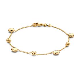 Excellent Jewelry Geelgouden Armband met Bolletjes