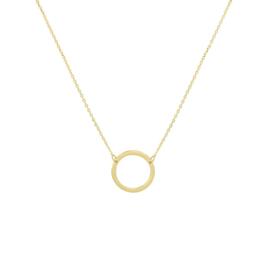 Geelgouden Collier met Opengewerkte Cirkel