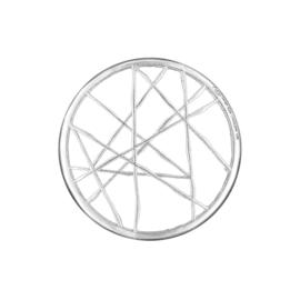 Zilveren Cover Munt met Doorkruisende Lijnen van MY iMenso