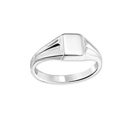 Slanke Gepolijste Jongens Ring van Zilver