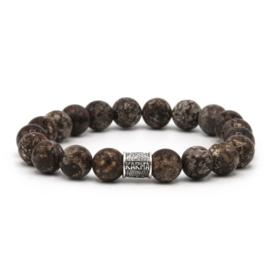 Karma Stone Age Kralen armband met Zilveren Logo 96046