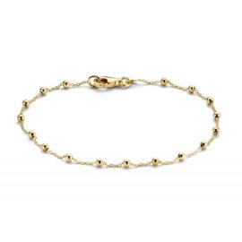 Excellent Jewelry Geelgouden Schakelarmband met Bolletjes Decoratie