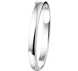 Zilveren Bangle armband met Ovale Buis
