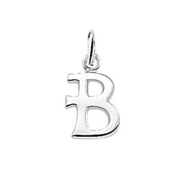 Gepolijste Zilveren Letter Bedel – B