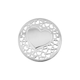 Romantische Zilveren Hart Munt van MY iMenso 24-1274