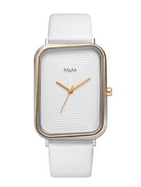 Rechthoekig M&M Dames Horloge met Goudkleurige Rand